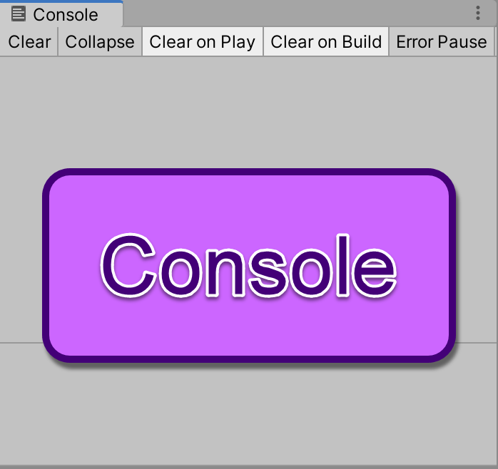 Unity's console area, taken from iAm_ManCat's game development learning log